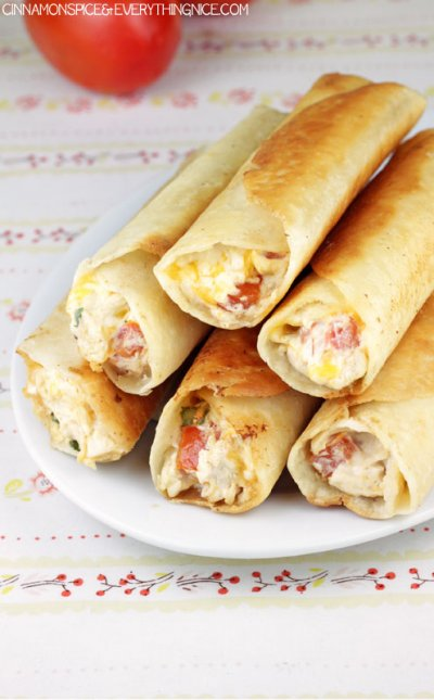 Taquitos,Chicken & Cheese Rolled In Flour Tortillas 30 Ct