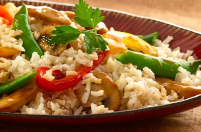 Stri-Fry Vegetables With Rice