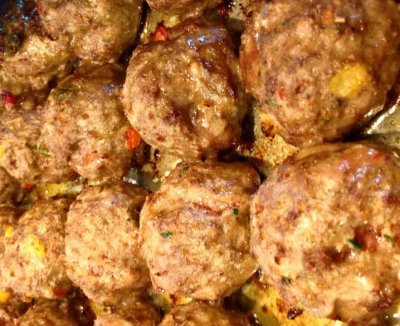 Basil And Roasted Garlic, Organic Chicken Meatballs