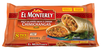Chimichangas, Spicy Jalapeno Bean & Cheese, Family Pack