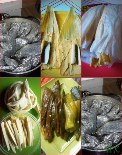 Cheese & Green Chile Tamales