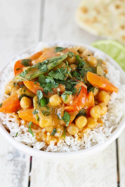 Curry, Chick Peas, Vegetarian