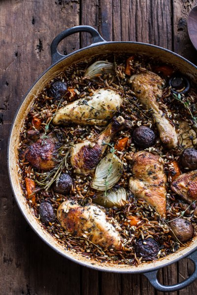 Rice Pilaf, Roasted Chicken And Herb
