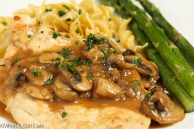 Grilled Chicken Marsala With Mushrooms