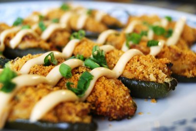Stuffed Jalapenos With Cheddar Cheese