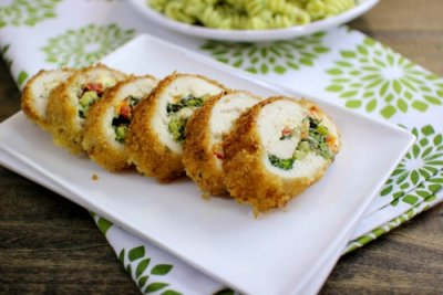 Breaded Raw Stuffed Chicken Breasts With Stuffed With Broccoli & Cheese