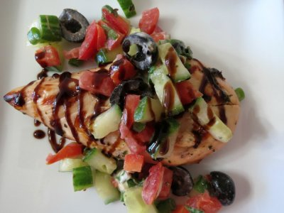 Mediterranean Grilled Basil Chicken