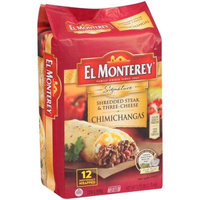 Chimichangas, Supreme Monterey Shredded Steak & Cheese 12 Ct