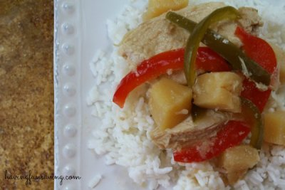 Frozen Dinner, Sweet & Sour Chicken