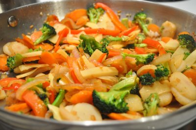 Stir Fry, Rice and Vegetables