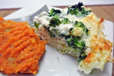 Broccoli and Cheddar Cheese Quiche