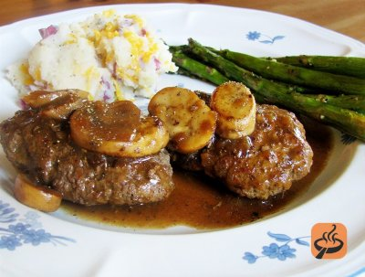Salisbury Steak, with Sliced Potatoes & Gravy