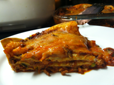 Three Layer Enchilada Pie