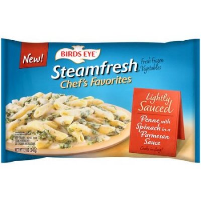 Steamfresh Chef's Favorites, Lightly Sauced Penne With Spinach & Parmesan Sauce