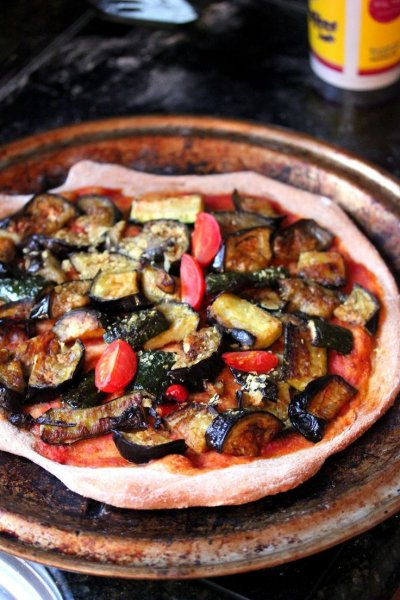 Thin Crust Pizza, Roasted Vegetable