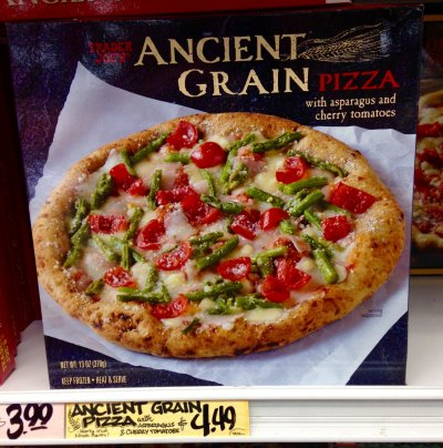 Ancient Grain Pizza With Asparagus And Cherry Tomatoes