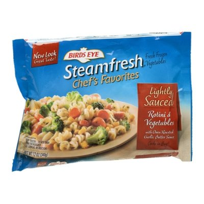 Steamfresh Lightly Sauced Pasta- Rotini and Vegetables with Garlic Butter Sauce