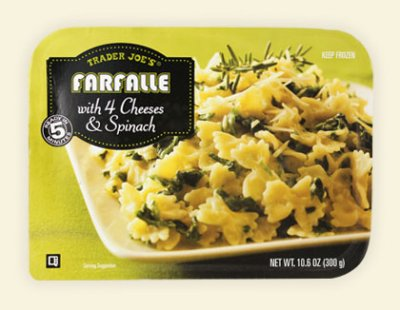Farfalle with 4 Cheeses & Spinach