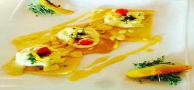 Goat Cheese and Sun Dried Tomato Ravioli
