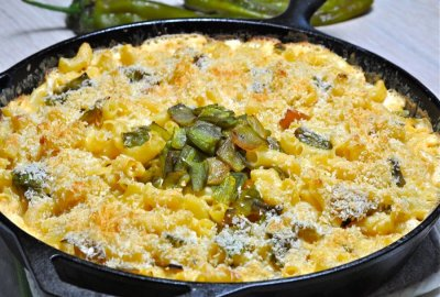Hatch Chile Mac And Cheese With Roasted Chilies