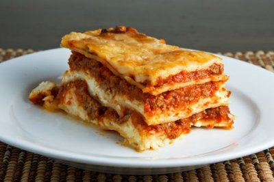 Lasagna, Cheese, In Marinara Sauce