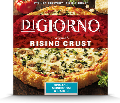 Rising Crust Spinach Mushroom & Garlic Pizza