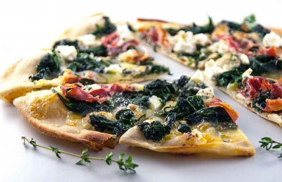 Spinach And Goat Cheese Pizza