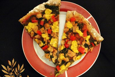Spinach Soy Cheese Pizza