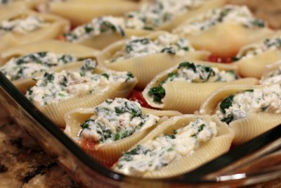 Stuffed Shells, with Cheese in Marinara Sauce
