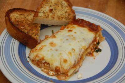 Chicken, Spinach and Mushroom Lasagna