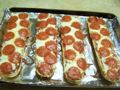 Pizza, French Bread, Pepperoni