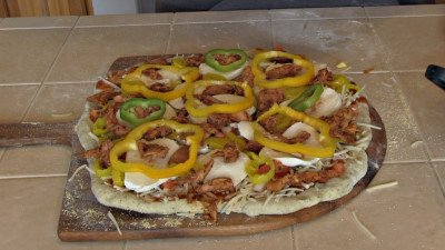 Pizza, Wood Fire Style, Chicken BBQ Recipe