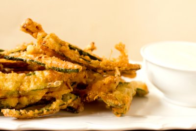 Zucchini Fries Grilled & Lightly Battered Zucchini