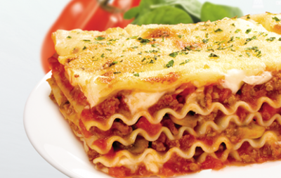 Lasagna with Meat & Sauce