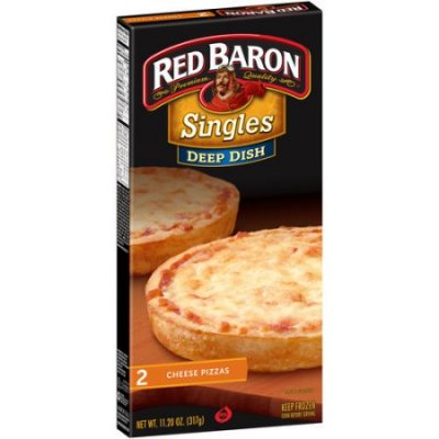 Deep Dish Pizzas, Singles, 4 Cheese Pizza