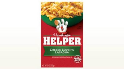Hamburger Helper, Cheese Lover's Lasagna Pasta