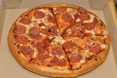 Pepperoni Pizza In A Crispy Crust