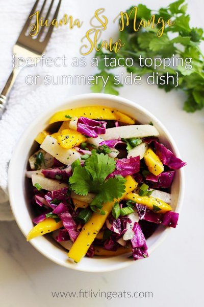 Mango Jicama Slaw With Lime Mango Vinaigrette
