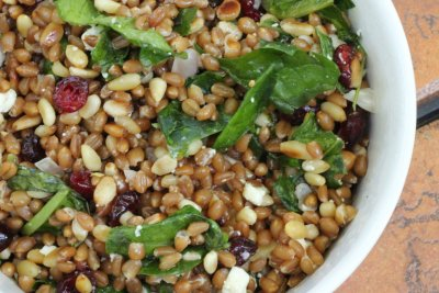 Spinach Wheatberry, Salad Kit