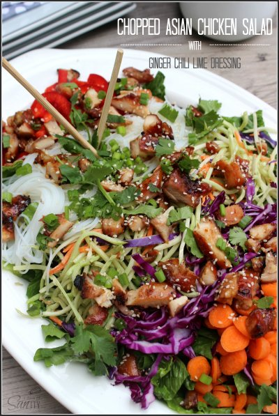 Salad, Chopped Asian with Sesame Ginger Slaw Dressing
