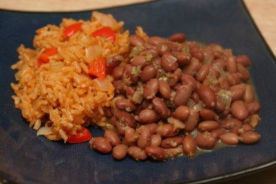 Seasoned Rice with Black Beans