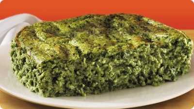 Spinach Souffle, Chopped Spinach Baked With Skim Milk & Eggs