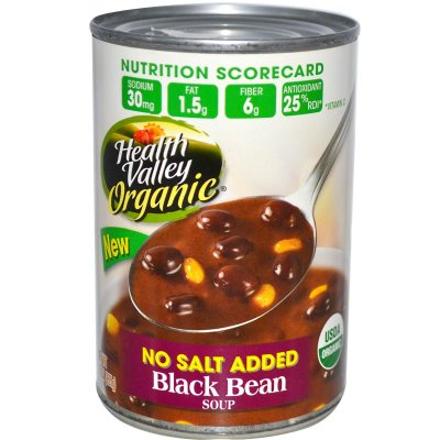 Organic Soup, No Salt Added, Black Bean