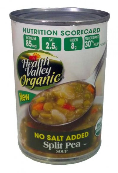 Split Pea Soup, No Salt Added, Organic
