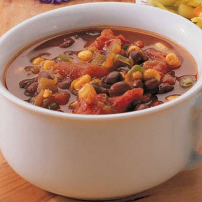 Black Bean Soup, Prepared With Olive Oil, Bell Pepper & Onion