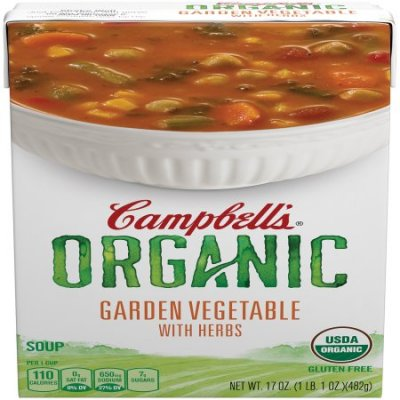 Organic, Garden Vegetable With Herbs, Soup
