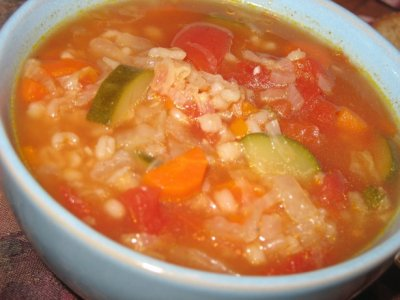 Chicken Barley and Vegetable Soup