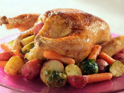 Roasted Chicken with Country Vegetables