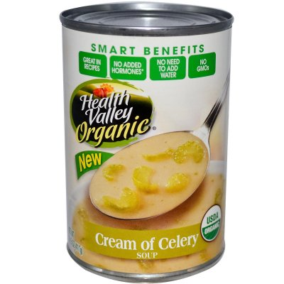 Organic Soup, Cream of Celery