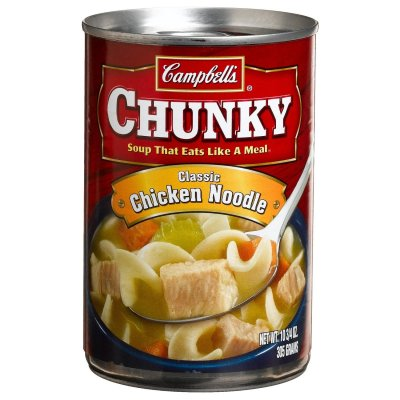 Soup, Chunky Chicken Noodle